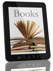 Books on Generic Tablet Computer - Digital Library Concept